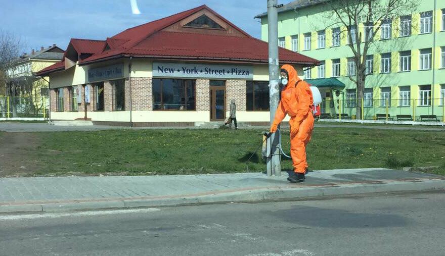 Фото дня. У Дрогобичі дизенфікують вулиці, фото-1