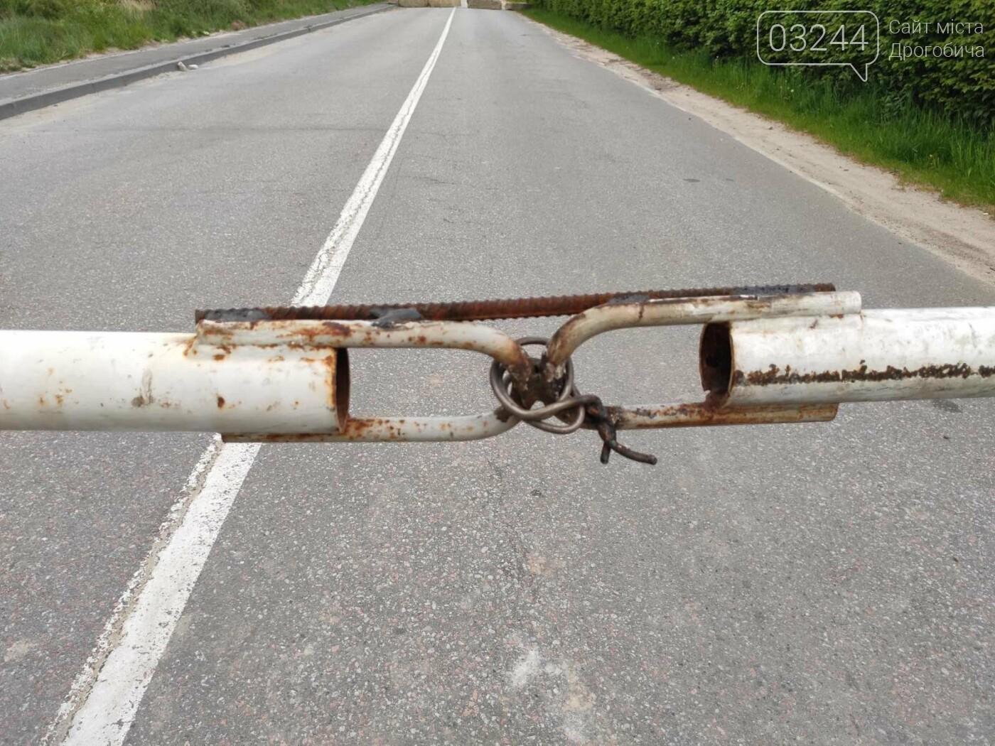 Проїзду немає! На дорозі Дрогобич - Трускавець закрили шлагбаум, - ФОТО, фото-2