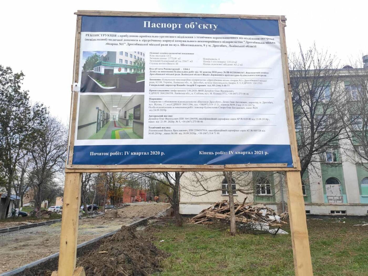 Дрогобицька міська лікарня №1 оновлює  приймальне відділення  – стартував капремонт приміщення  , фото-14