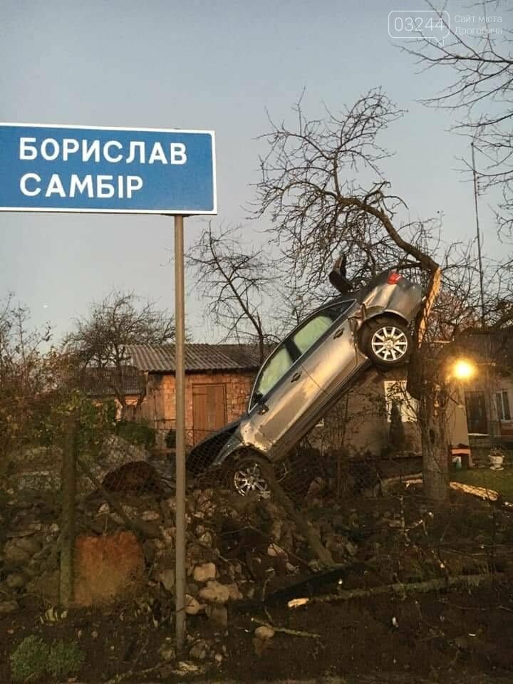 Фото дня.  Внаслідок ДТП автомобіль опинився на дереві, фото-2