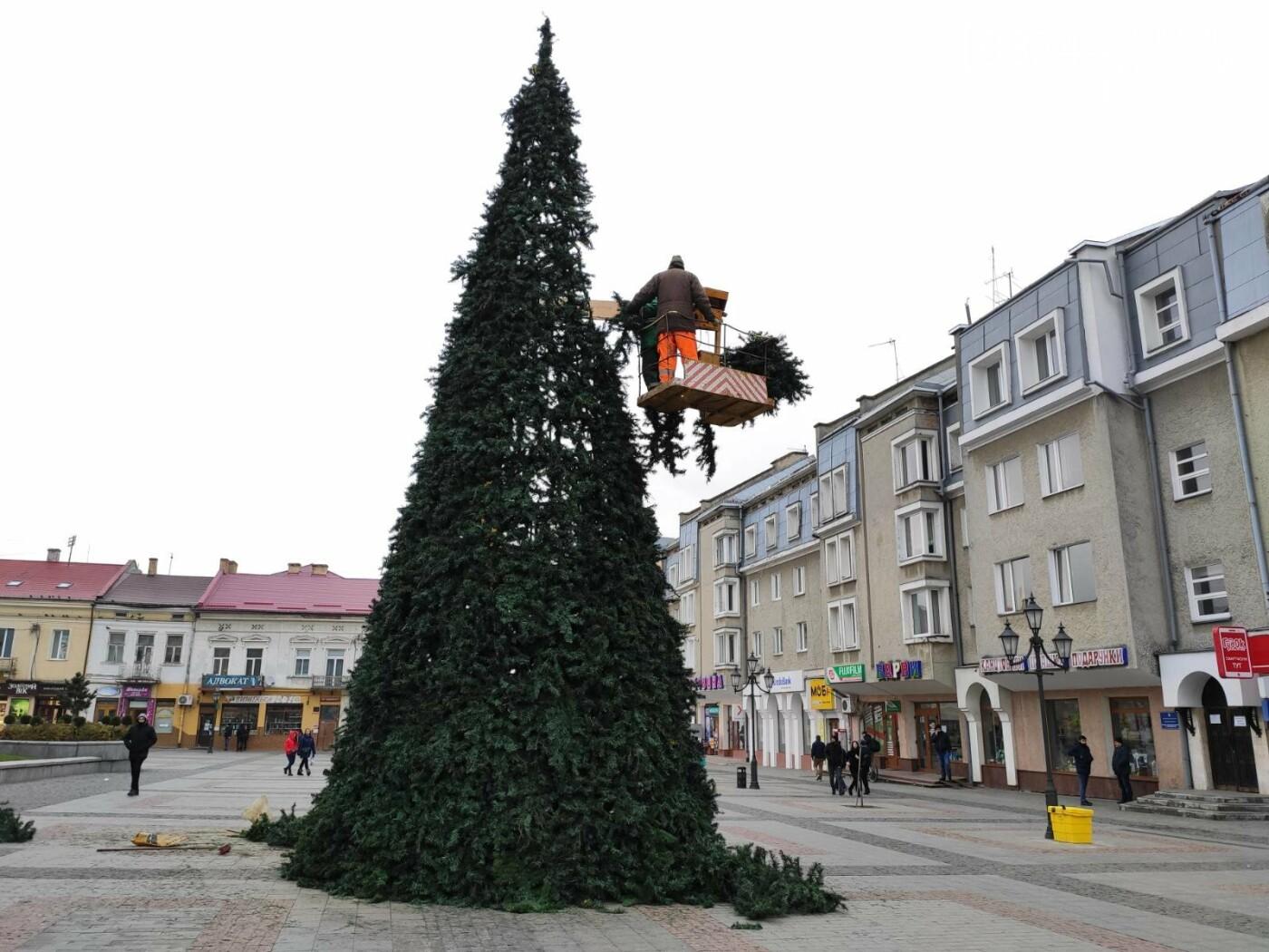 У Дрогобичі встановили новорічну ялинку, - ФОТО, фото-3