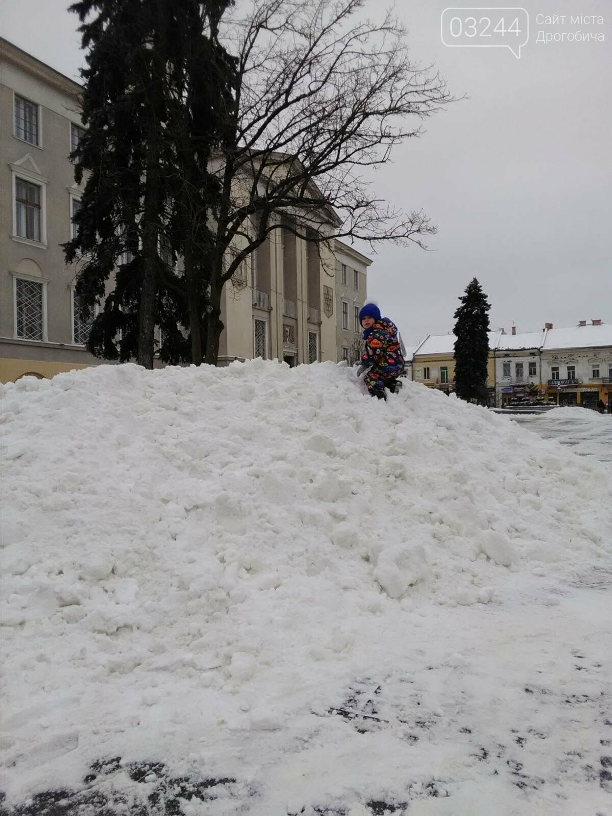Фото дня: на Площі Ринок утворились снігові атракції для дітей, фото-2