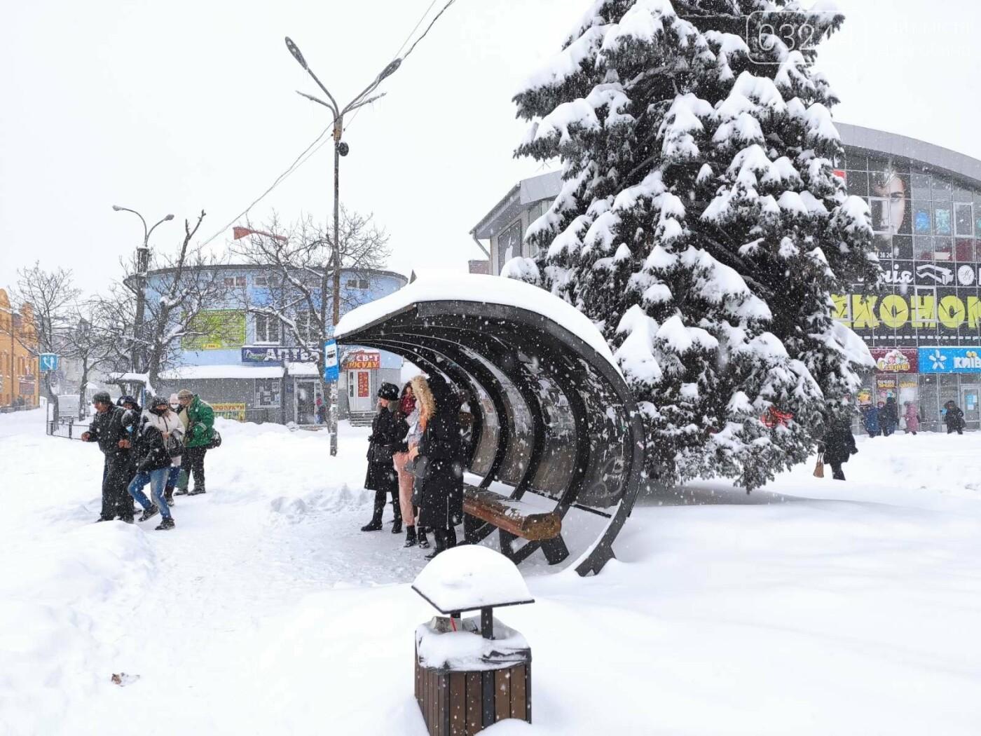 У сніговій пастці – негода випробовує Дрогобиччину. Не всім сьогодні вдалося потрапити на роботу та до школи, фото-27