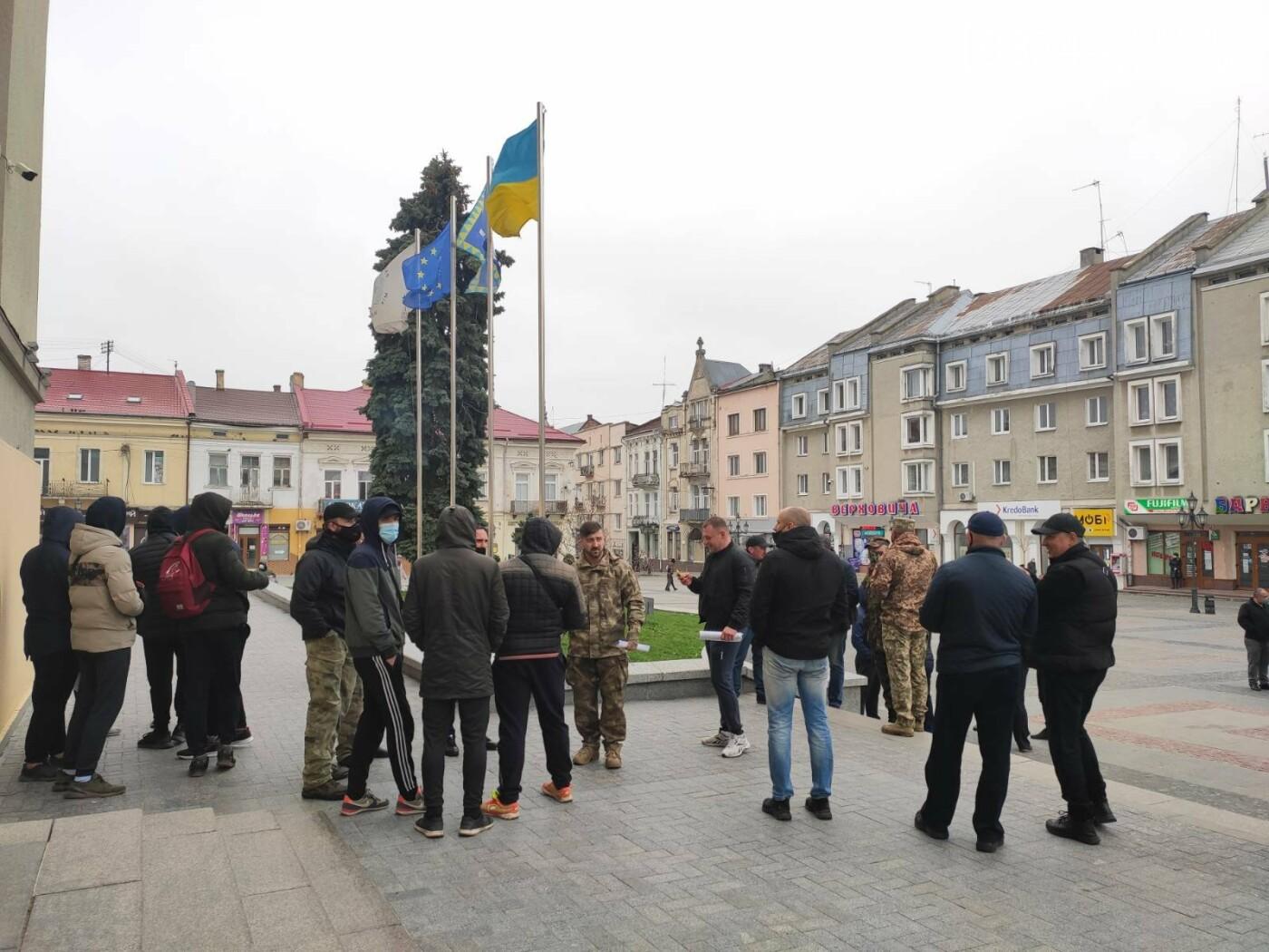 Учасники АТО провели акцію протесту: виступили проти сепаратистських настроїв на Дрогобиччині, фото-3