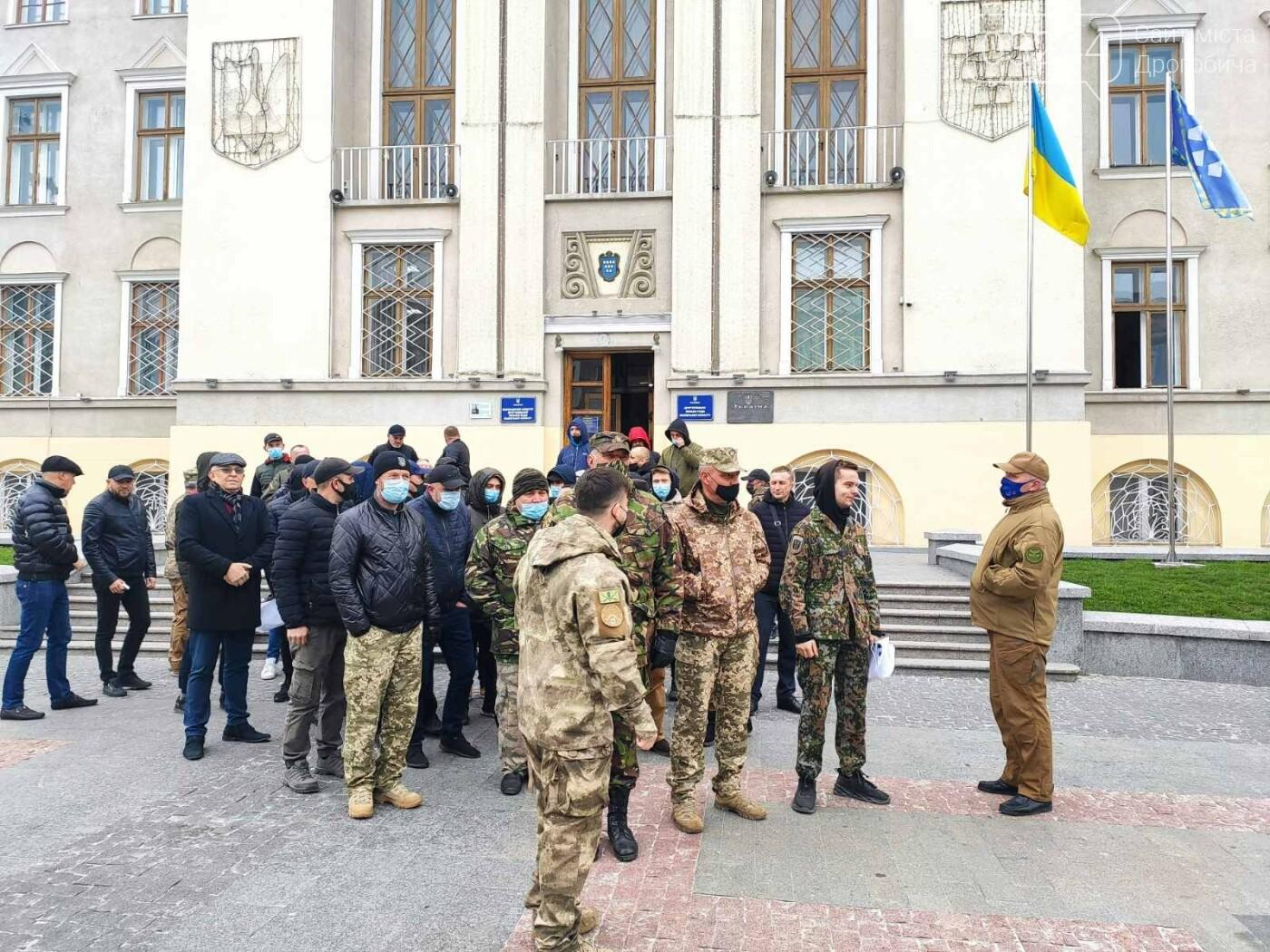 Учасники АТО провели акцію протесту: виступили проти сепаратистських настроїв на Дрогобиччині, фото-5