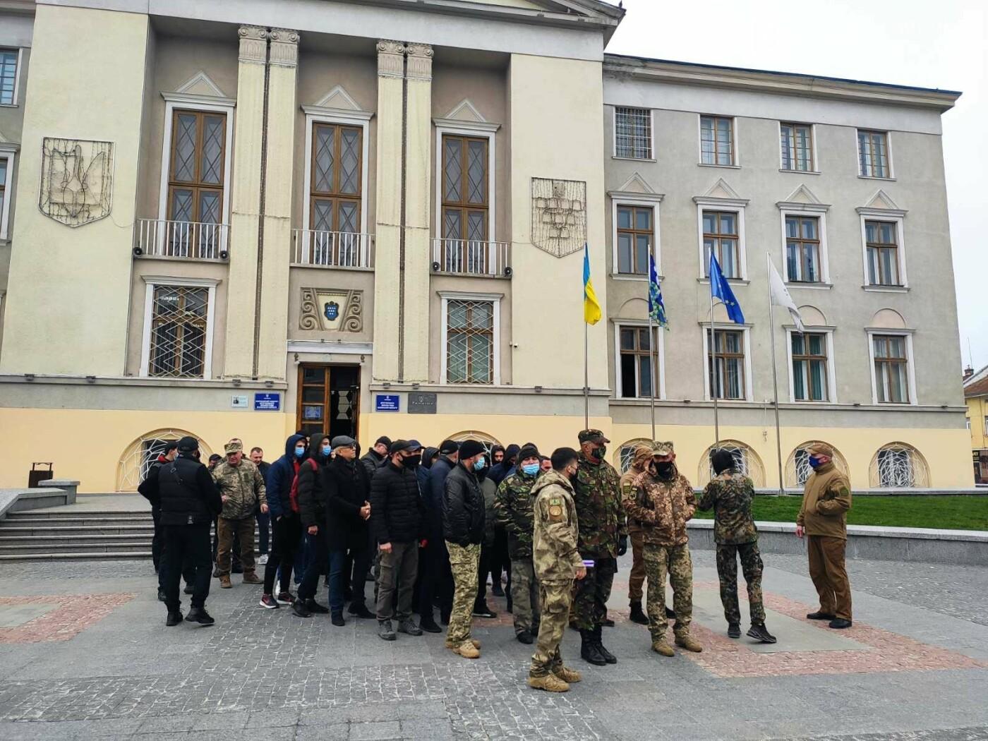 Учасники АТО провели акцію протесту: виступили проти сепаратистських настроїв на Дрогобиччині, фото-6