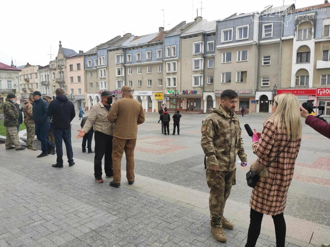 Учасники АТО провели акцію протесту: виступили проти сепаратистських настроїв на Дрогобиччині, фото-4