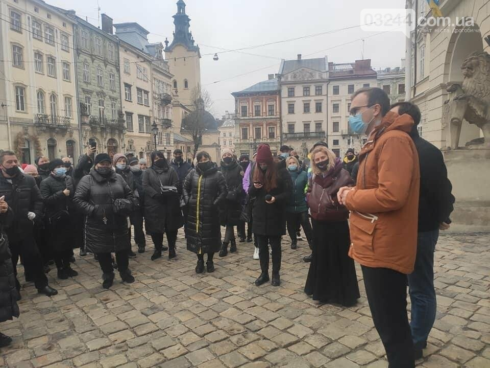 У центрі Львова підприємці протестували проти карантину, - ФОТО, фото-1