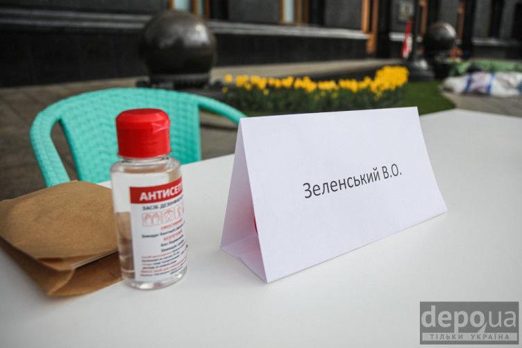 """Під Офісом президента ресторатори влаштували протест-перформанс проти """"велюрового карантину"""", - ФОТО, фото-4"""